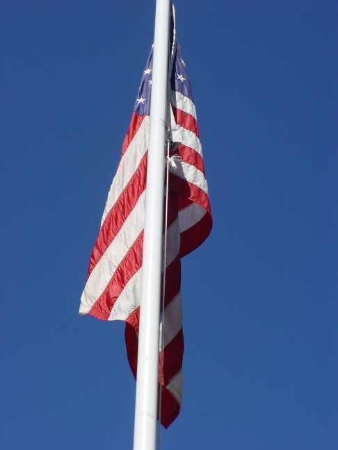 American Flag Flying Over Portales, NM